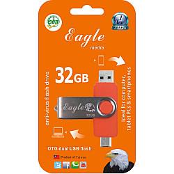 32GB Anti-Virus Flash Drive With OTG Slot