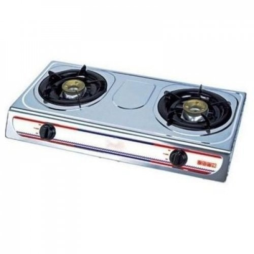 Eurosonic 2 Burner Auto Ignition Table Top Gas Cooker - Silver