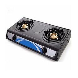 Eurosonic 2 Burner Auto Ignition Table Top Gas Cooker - Black