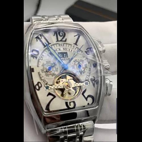 Franck Muller Mechanical Mens Watch Silver Chain Fm525