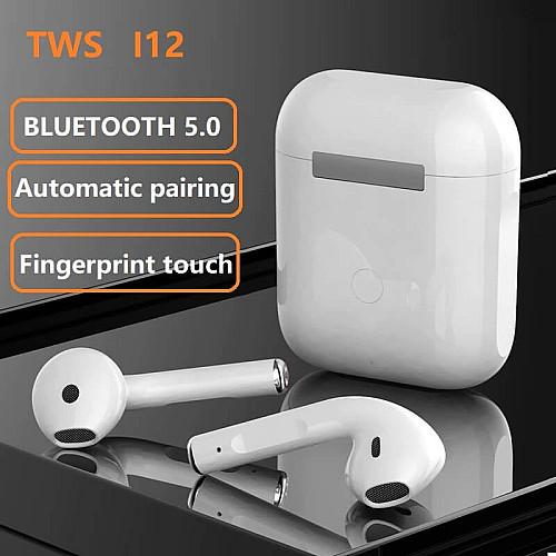 i12 TWS Bluetooth Headset with Noise Canceling,