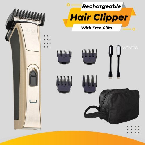 KiKi Rechargeable Balding Clipper | 3in1 Function With Free Gifts