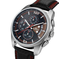 Luxury Analog Alloy Men's Leather Watch