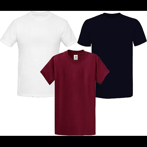 Pack Of Three Round Neck Shirts