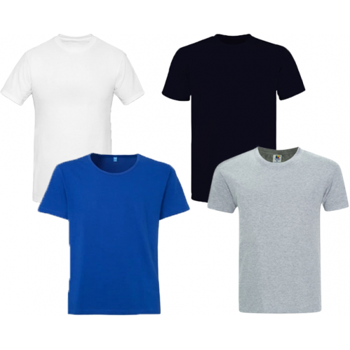 Pack Of Four Round Neck Shirts