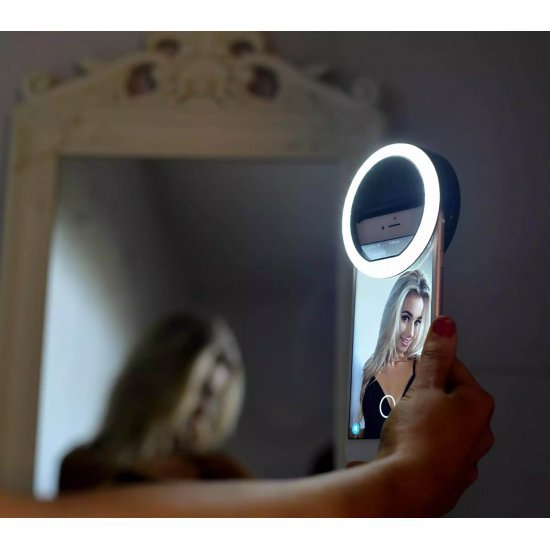 Universal Selfie LED Ring Flash Light at discounted price - Selfie