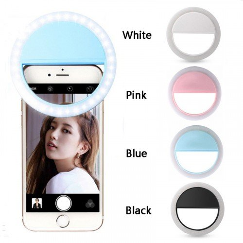 Universal Selfie LED Ring Flash Light at discounted price - Selfie