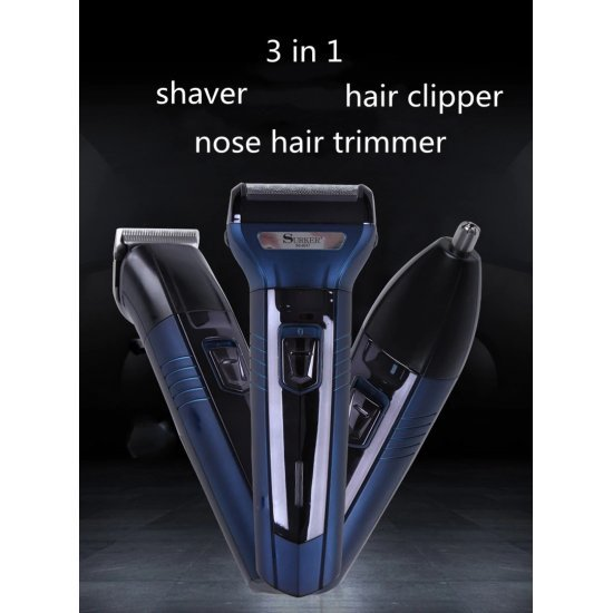 3 in1 Electric Hair Clipper | Beard Trimmer | Nose Trimmer - Surker 6011