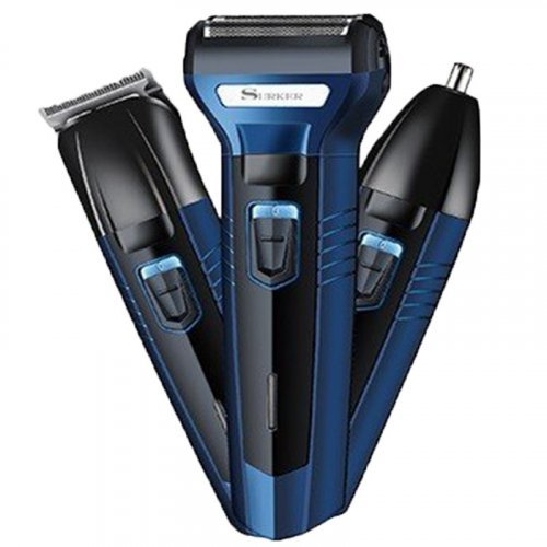 3 in1 Electric Hair Clipper   Beard Trimmer   Nose Trimmer - Surker 6011
