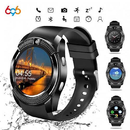 V8 Waterproof Smart Watch with Camera/SIM Card Slot