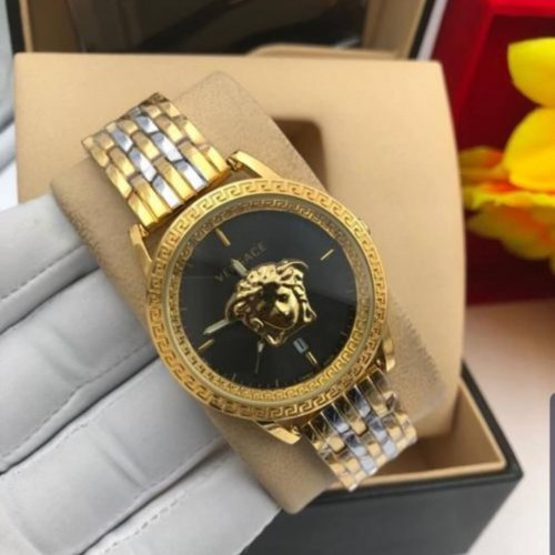 Versace Casual Business Watch Gold Silver Vs031