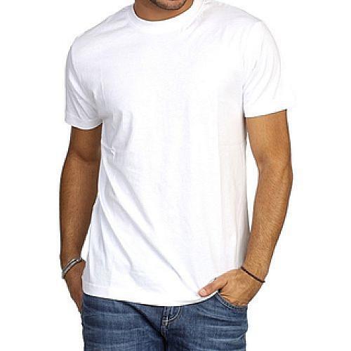 Plain Round Neck Shirt - White