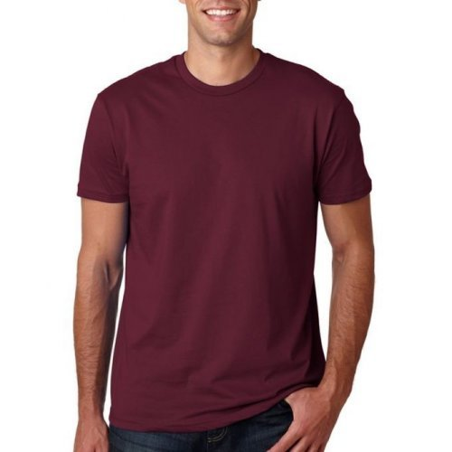 Plain Round Neck Shirt - Wine