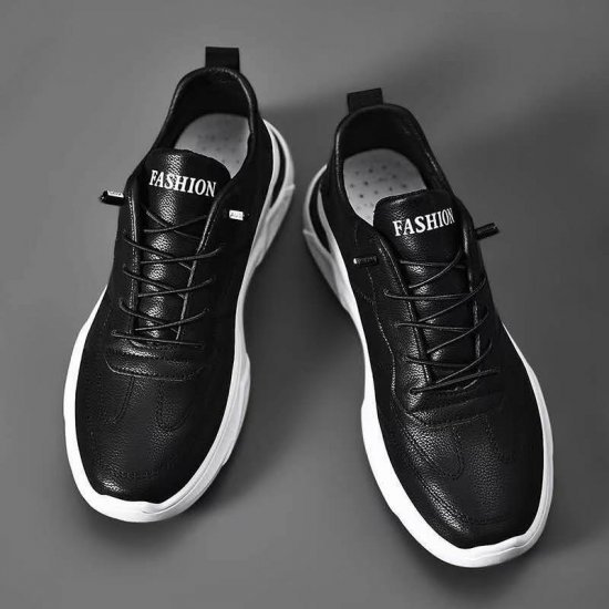 Men Casual Sports Running Leather Sneaker